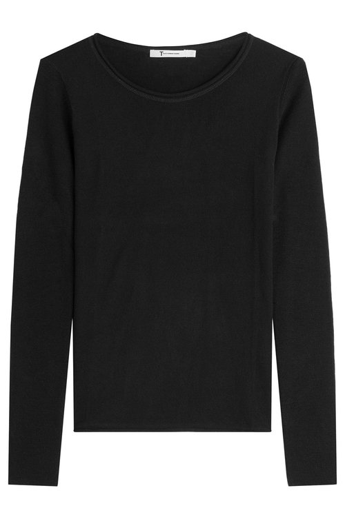 Alexander Wang T Wool Pullover In Black