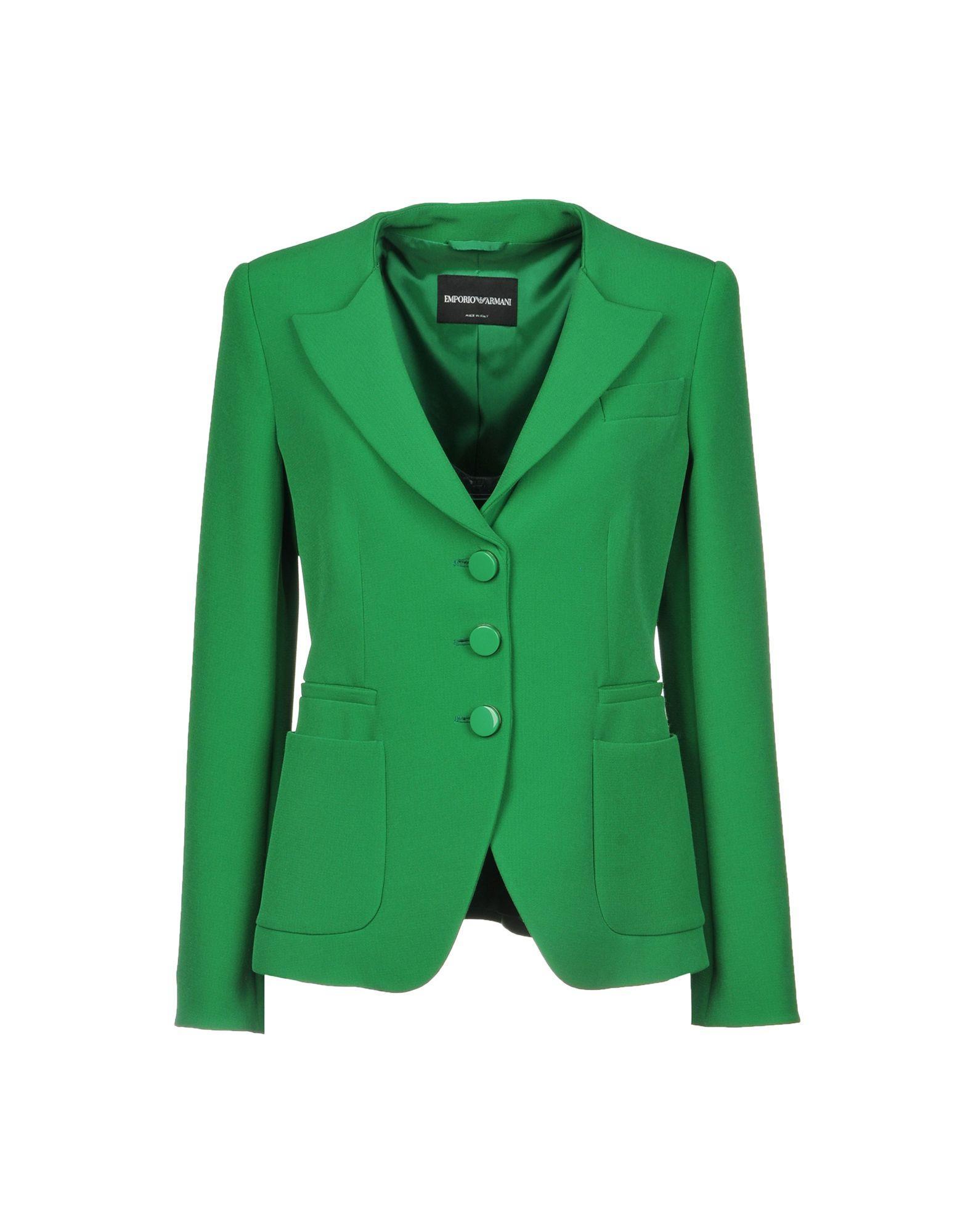 d82f27375e481 Emporio Armani Blazers In Green   ModeSens