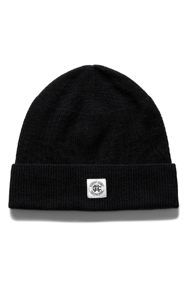1937d84ff57 Reigning Champ Ribbed Wool Beanie - Black - One Siz
