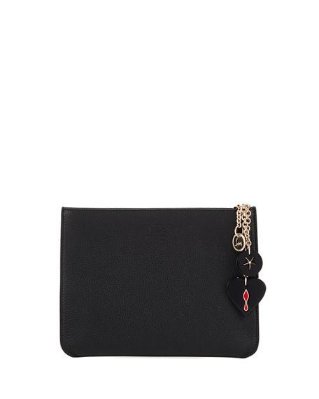 4fef0b4ff80 Loubicute Calf Empire Charms Clutch Bag in Black