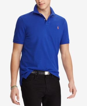 Polo Ralph Lauren Polo Classic Fit Mesh Polo Shirt In Rugby Royal