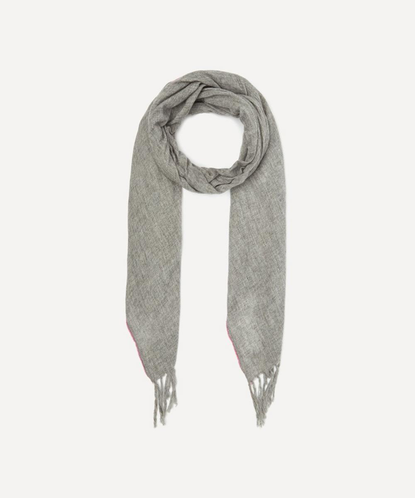 Lily And Lionel Baseball Stitch Scarf In Grey