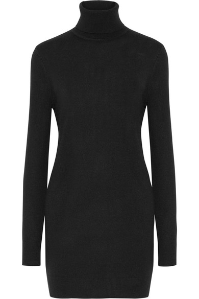 1df30ab67b9 Equipment Oscar Long-Sleeve Cashmere Turtleneck Dress In Black ...