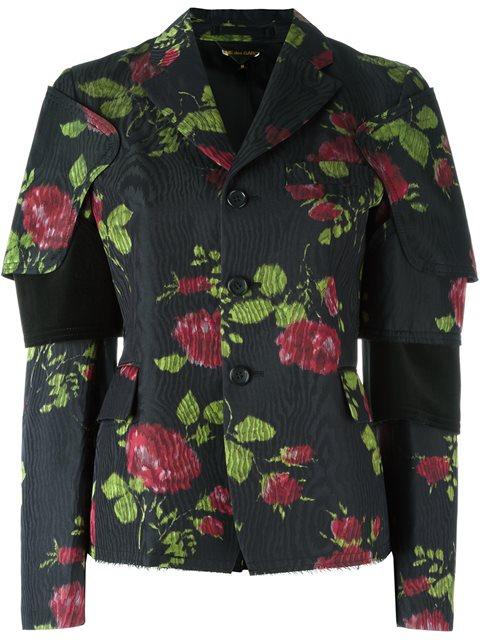 Comme Des GarÇOns Flower Print Jacket In 1