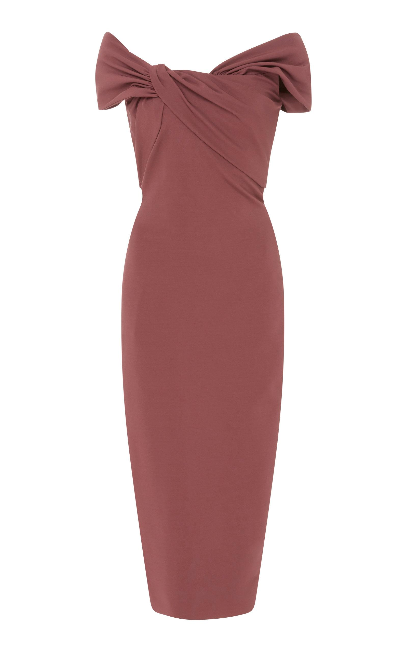 191a0153b752 Cushnie Et Ochs Off-The-Shoulder Pencil Dress With Twist Detail At Neck In