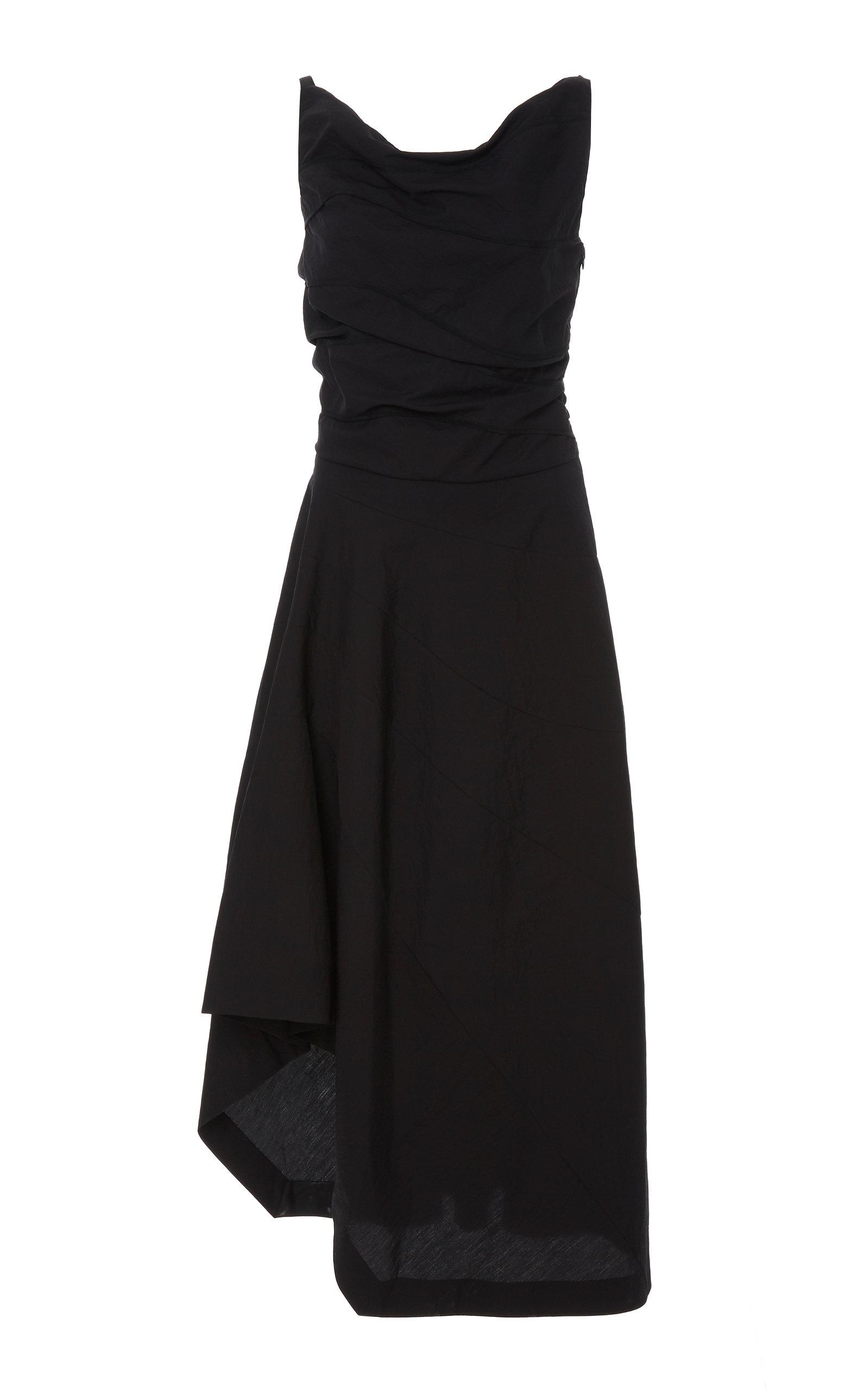 3b5566cfecc Narciso Rodriguez Textured Midi Dress In Black