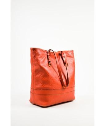 Louis Vuitton 1   Red Empreinte Leather Monogram Citadine Pm Tote Bag