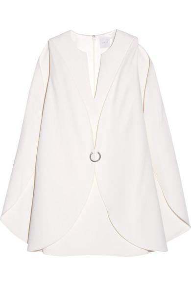 Dion Lee Layered Wool-crepe Mini Dress