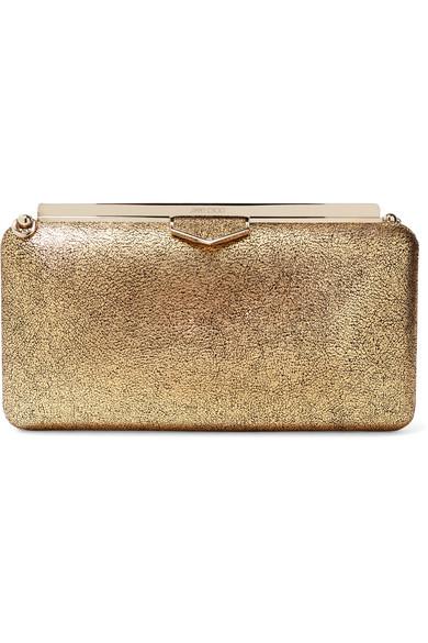 c68f2a67a8 Jimmy Choo Ellipse Metallic Leather Clutch In Gold | ModeSens