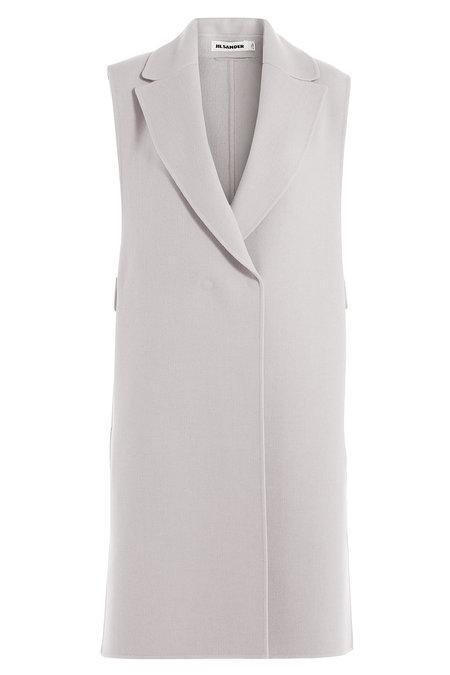 Jil Sander Wool Vest In Beige