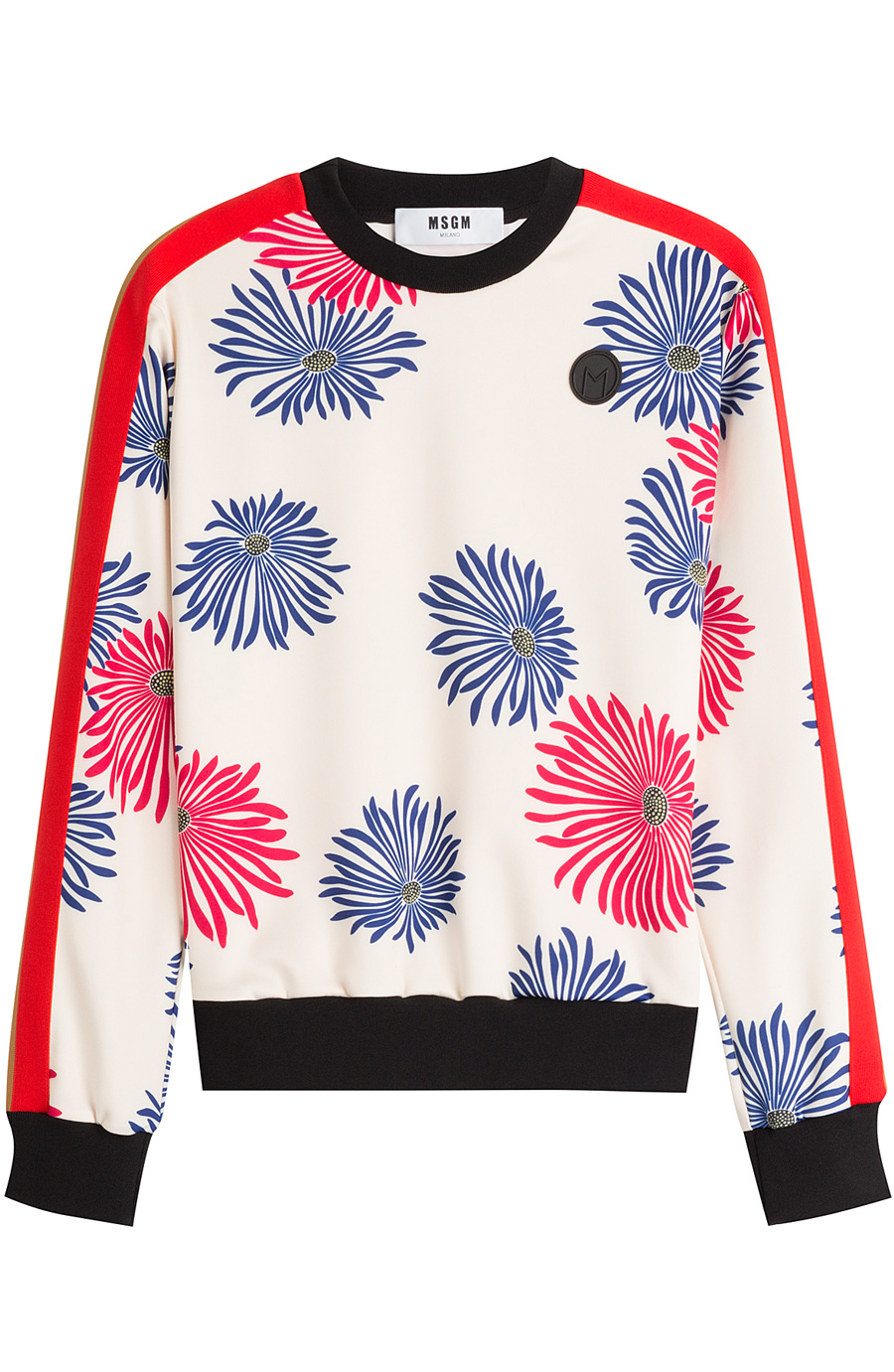 Msgm Printed Top In Florals