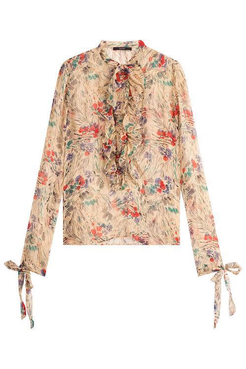 Etro Printed Silk Blouse In Multicolored