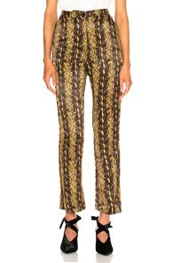 Alexa Chung Alexachung Tailored Crop Flare Trouser In Metallic Gold