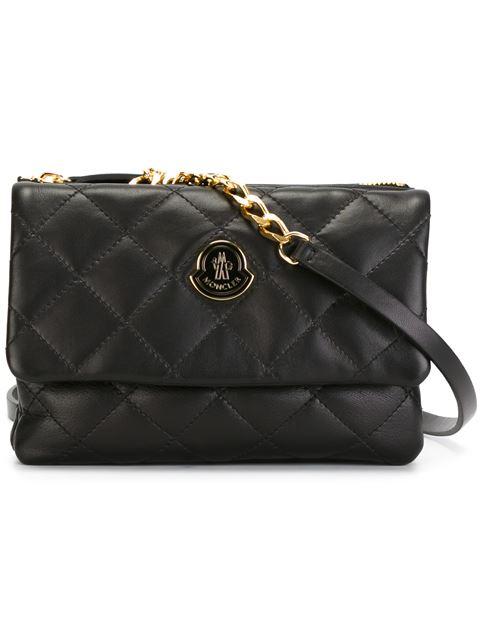 Moncler Quilted Shoulder Bag In Black