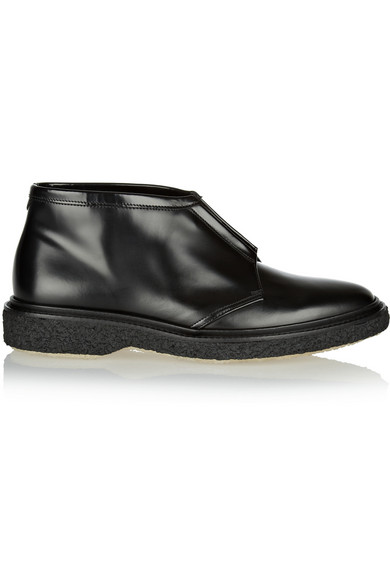 Adieu Type 3 Leather Ankle Boots In Black