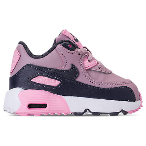 new concept 6a486 e3a05 NIKE. Girls  Toddler Air Max 90 Leather Casual Shoes ...