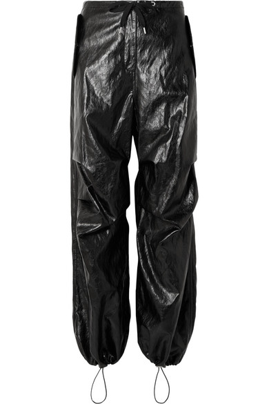 bf1c932d8759 T By Alexander Wang Papery Faux Leather Pants In Black