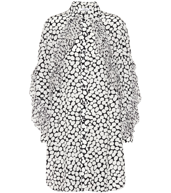 Givenchy Printed Silk CrÊPe Dress In White