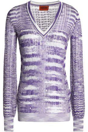 Missoni Woman Crochet-Knit Top Lavender