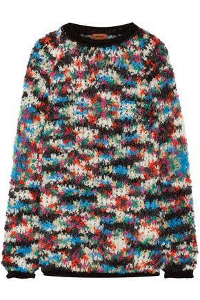 Missoni Woman Oversized Bouclé-Knit Wool-Blend Sweater Black