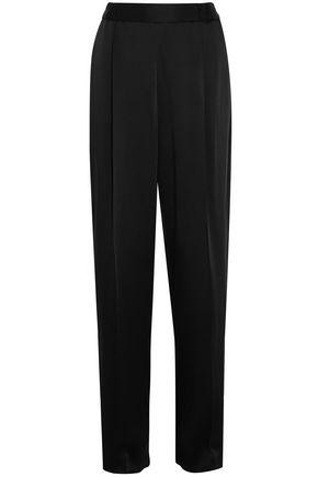 Stella Mccartney Woman Cicely Satin Wide-Leg Pants Black