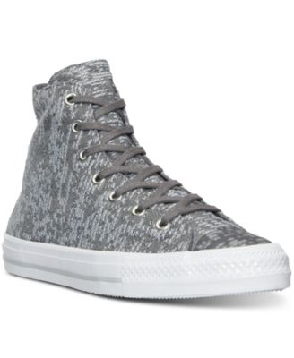 Converse Women's Gemma Hi Winter Knit Casual Sneakers From Finish Line In Charcoal/dolphin/egret