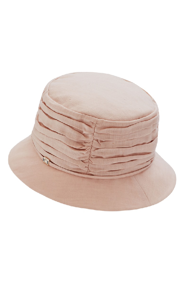 746a9a2e0 Classic Linen Bucket Hat - Pink in Dusty Pink