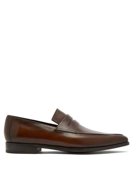 Berluti Andy Demesure Leather Loafers In Brown