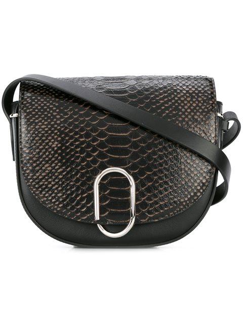3.1 Phillip Lim Alix Saddle Leather Shoulder Bag In Black