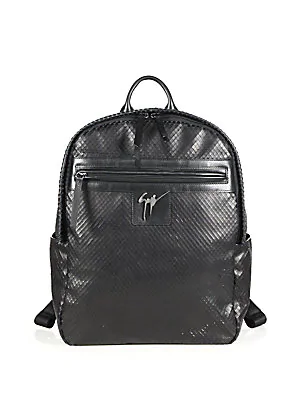 475ae22638c67 Giuseppe Zanotti Lindos Textured Leather Backpack In Black | ModeSens
