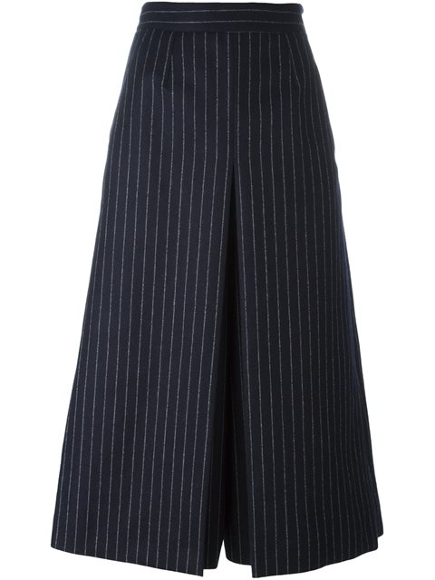 Saint Laurent High-waisted Pinstriped Culottes