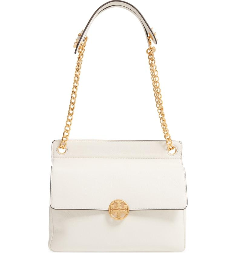 655397e6f9d5 Tory Burch Chelsea Flap Leather Shoulder Bag In New Ivory
