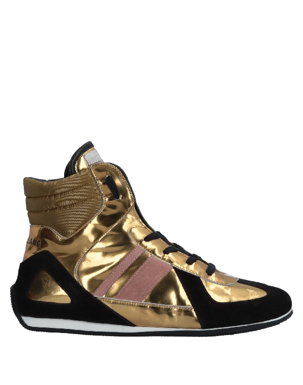 Helmut Lang Sneakers In Gold