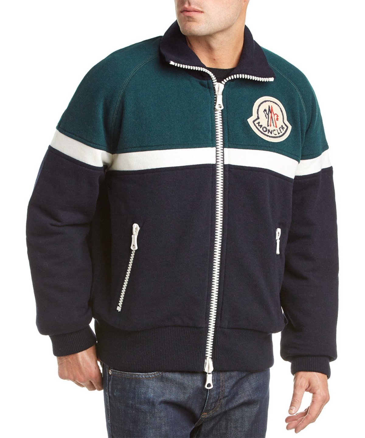 Moncler Down Sweater' In Green
