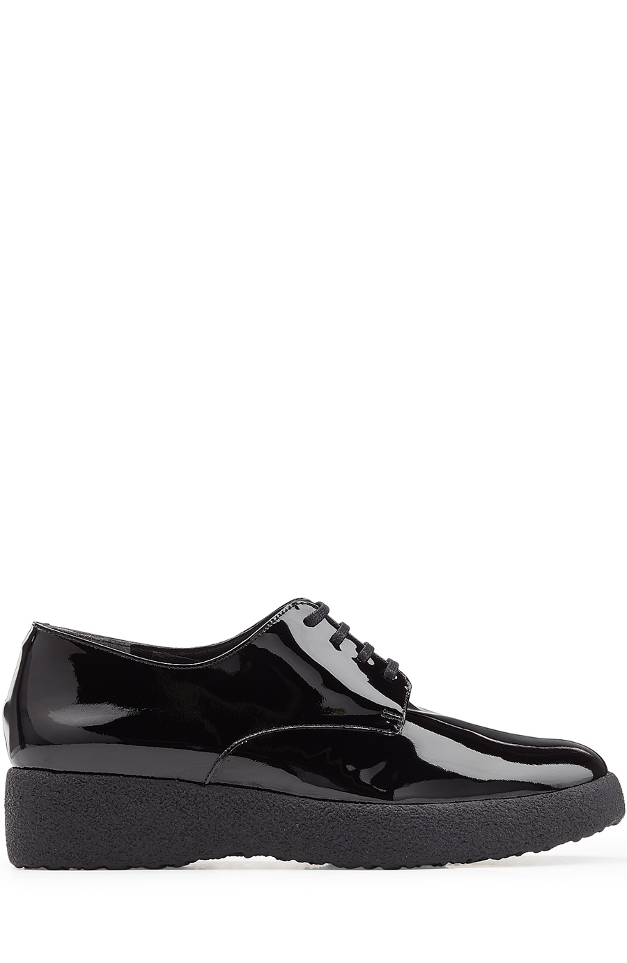 Robert Clergerie Feydol Patent Leather Platform Oxfords In Black