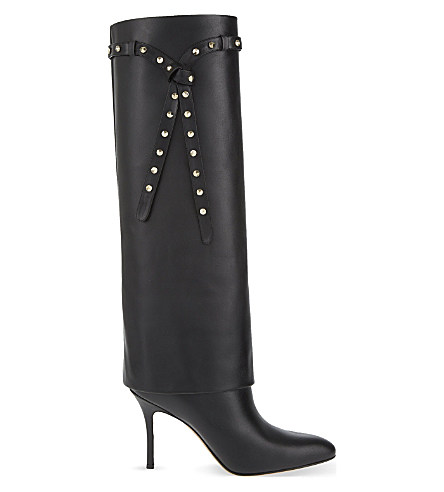 Valentino Punky-Ch Knee High Boot In Black