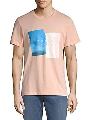 7 For All Mankind Present Cotton Tee In Pink