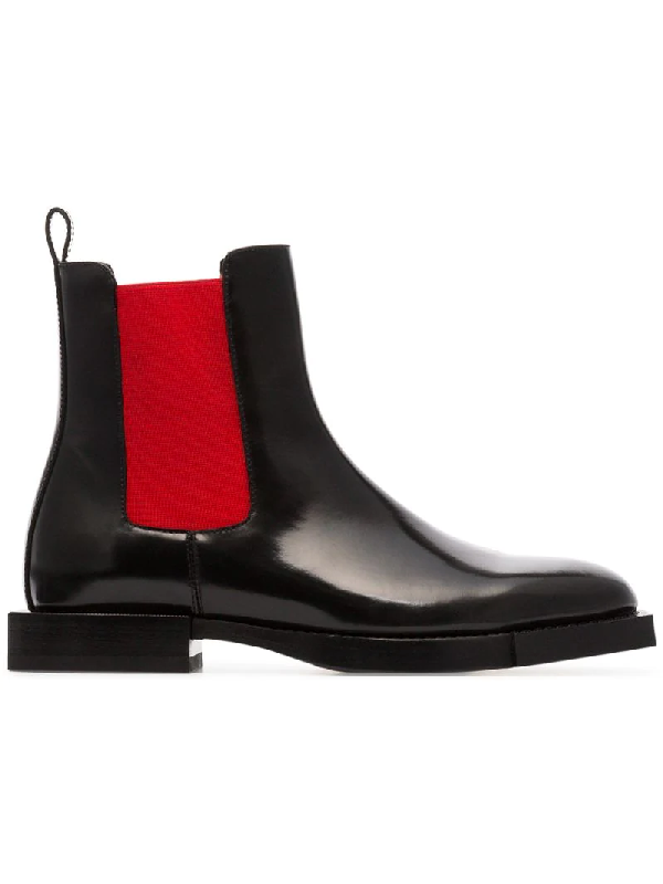 Alexander Mcqueen Hybrid Patent-leather Chelsea Boots In Black