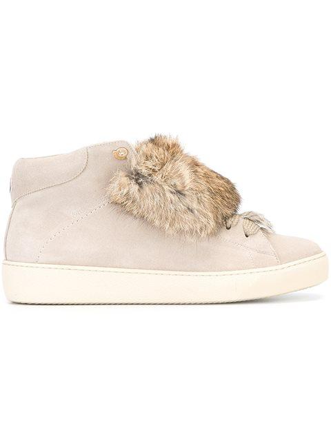Moncler 'angele' Hi-top Sneakers - Neutrals