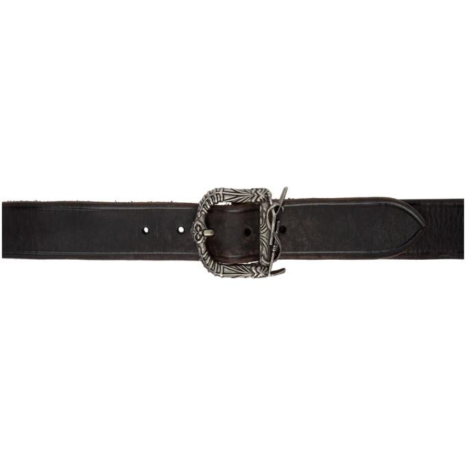 f197b8f6cfbe8 Celtic motifs and an interlaced monogram logo form the buckle of a sleek leather  belt sure to impart undeniable glamour to any look. Style Name  Saint ...