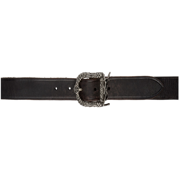 e9011fb5e4 Monogram Ysl Celtic Leather Belt in 1068 Black