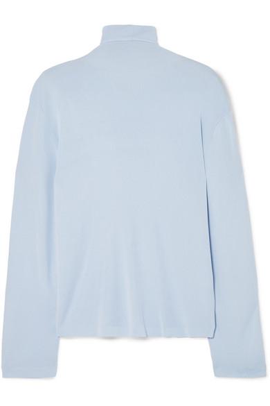 af2e4aa48a4978 Khaite Clarice Stretch-Knit Turtleneck Sweater In Sky Blue