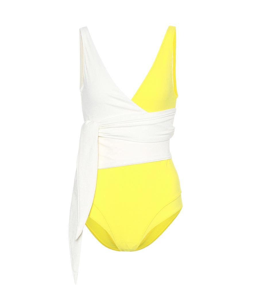 022c25a1155 Lisa Marie Fernandez Dree Louise One-Piece Swimsuit In Yellow | ModeSens