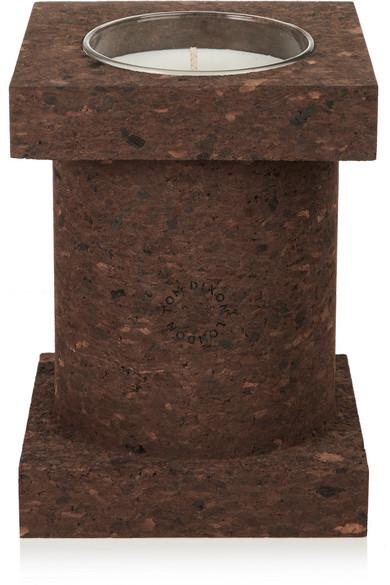 Tom Dixon Cork Large Scented Candle In Brown