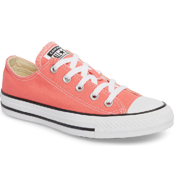 e1c95fdd6d0e Converse Chuck Taylor All Star Seasonal Ox Low Top Sneaker In Punch Coral