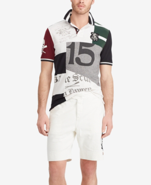 Polo Ralph Lauren Men's Classic Fit Patchwork Cotton Polo In Multi