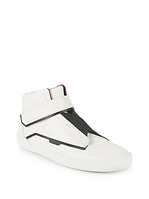 Bally Erwan Leather High-top Sneakers In White