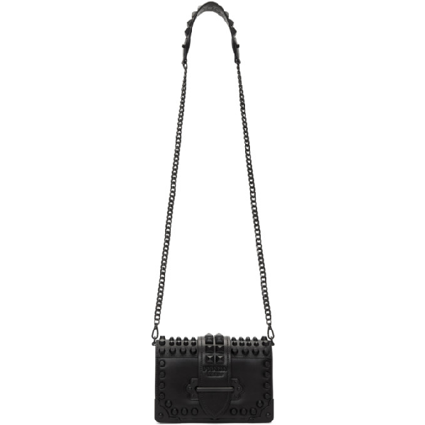 cb88239372a1 Prada Black Mini Cahier Bag | ModeSens