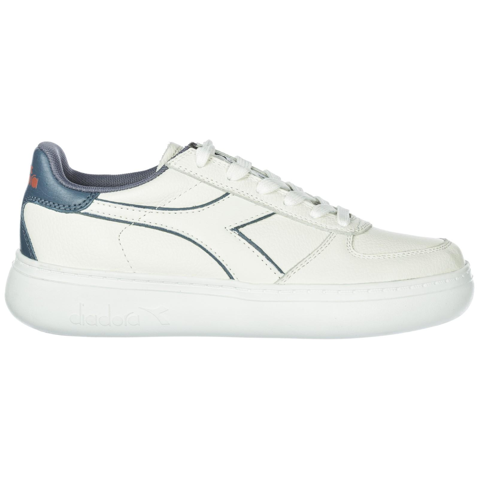 b67d3af447 Women's Shoes Leather Trainers Sneakers B. Elite L Wide in White