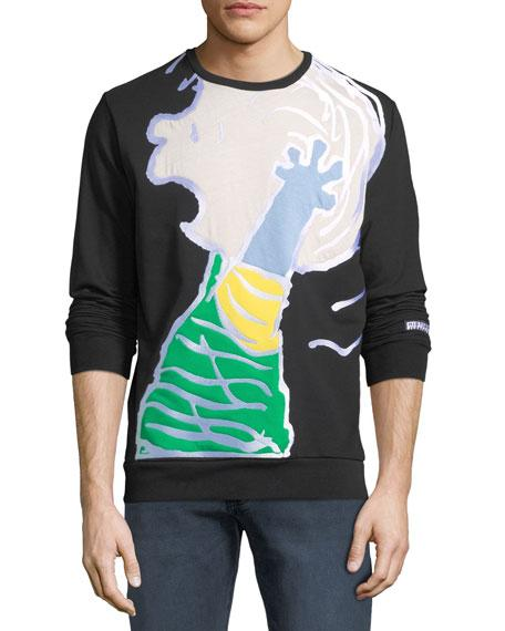 58631eef36b Iceberg Men s Peanuts Linus Graphic-Applique Sweatshirt In Black ...